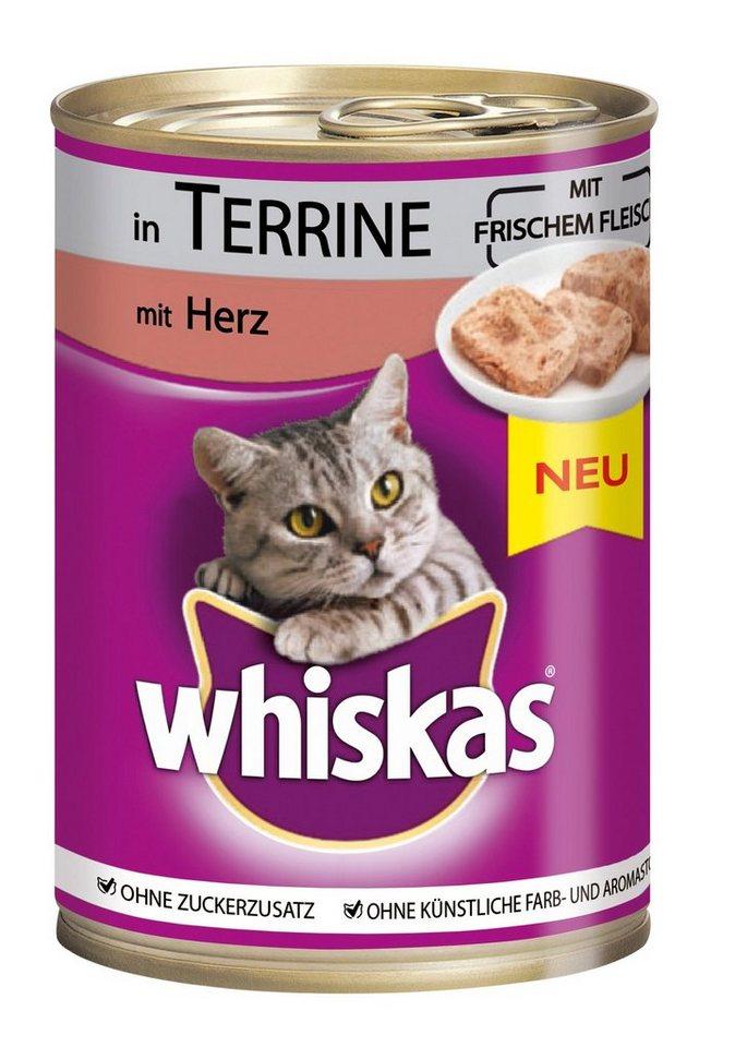 Set: Katzennassfutter »Adult Herz in Terrine«, 12 Dosen á 400 g in braun