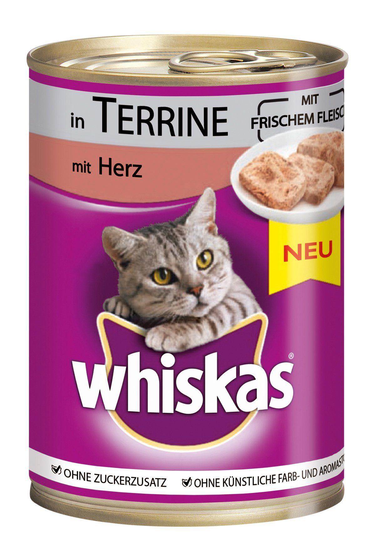 Kitekat Set: Katzennassfutter »Adult Herz in Terrine«, 12 Dosen á 400 g