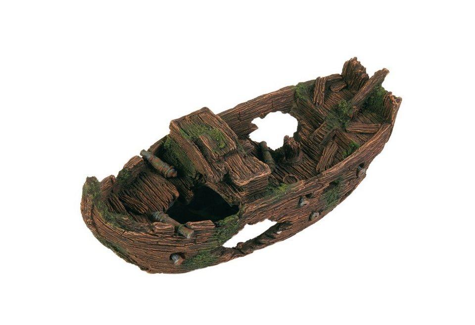 Aquariendeko »Schiffswrack« in braun