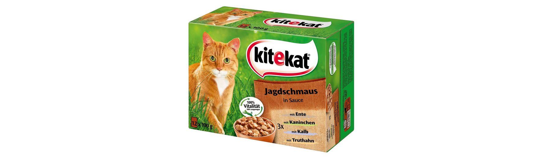 Set: Katzennassfutter »Jagdschmaus in Sauce«, 4 Pakete mit je 12 Beuteln á 100 g