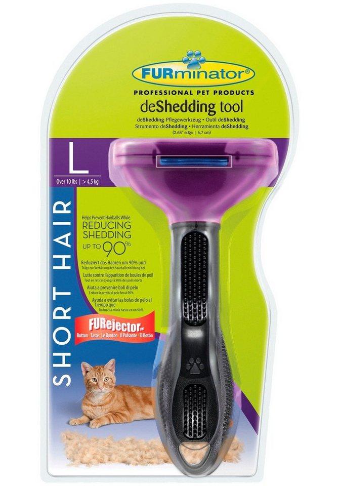 Katzen-Pflegebürste »FURminator Long Hair Small Cat L« in lila