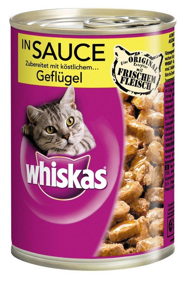 Set: Katzennassfutter »Adult«, 12 Dosen á 400 g in braun