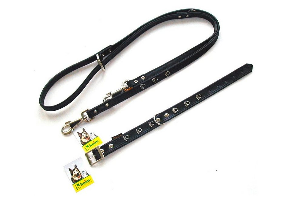 Hundehalsband »Pfote« schwarz in schwarz