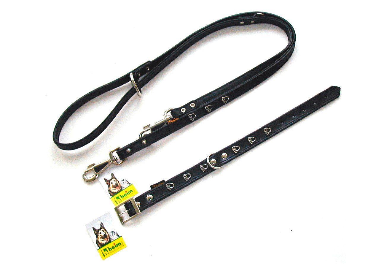 Hundehalsband »Pfote« schwarz