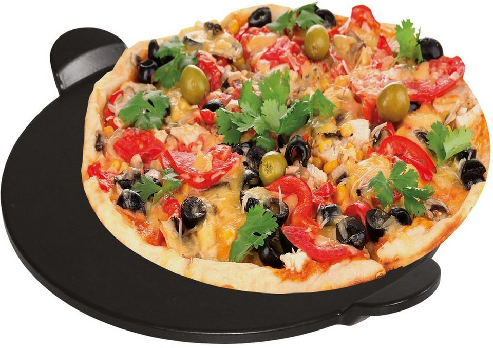 FREYERSBACHER® Brotback & Pizzastein in schwarz