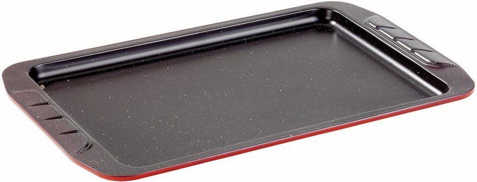STONE® Backblech in außen rot/innen schwarz