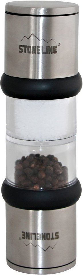 STONELINE® Salz- Pfeffermühle, Edelstahl in silberfarben/transparent/schwarz