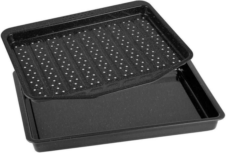 FREYERSBACHER® Backblech und Grillschale in schwarz