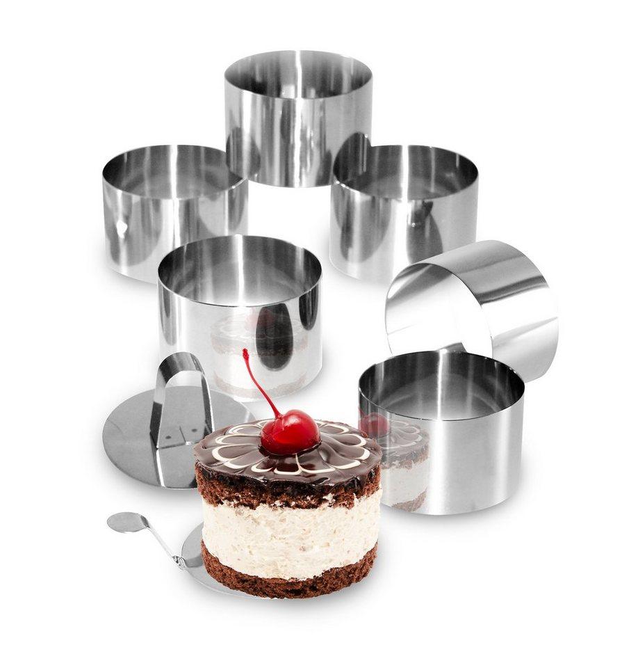STONELINE® Dessert- und Speisering-Set in silberfarben