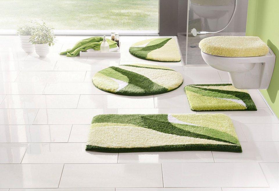 my home Badematte »Magnus«, Höhe 20 mm, rutschhemmender Rücken in grün