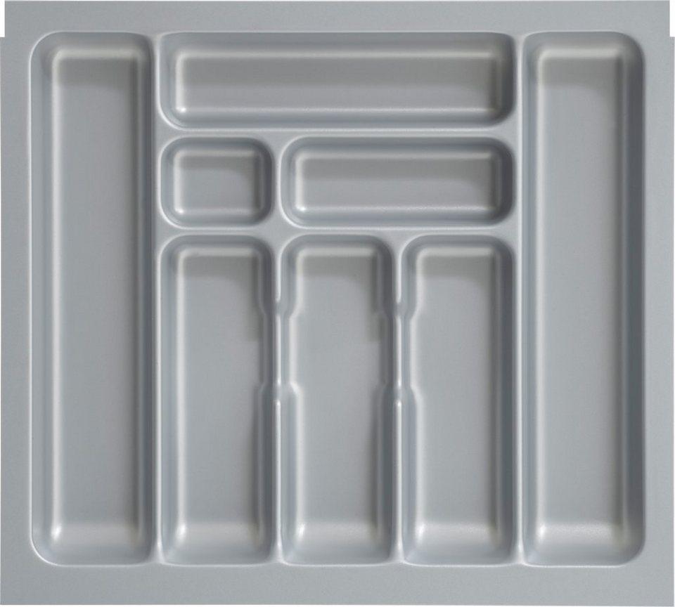 Besteckeinsatz 60 cm, Optifit in silberfarben