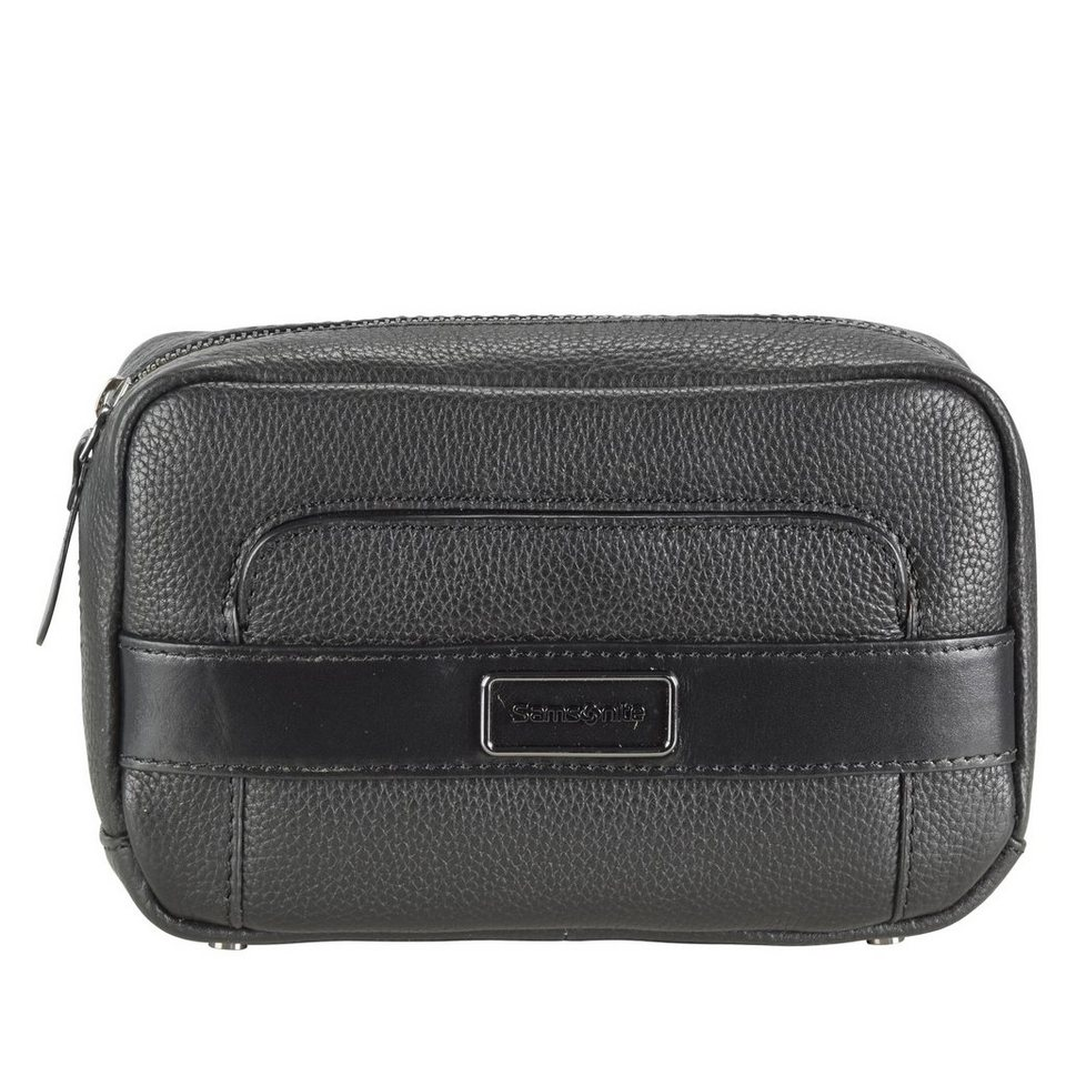 Samsonite Tuxedo Cosmetic Case Cosmetic-Pouch Kulturtasche Leder 20 cm in black