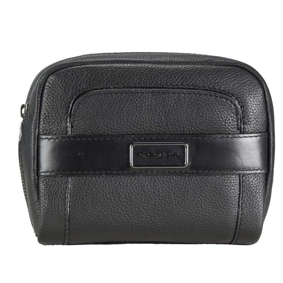 Samsonite Tuxedo Cosmetic Case Cosmetic-Pouch Kulturtasche Leder 17 cm in black