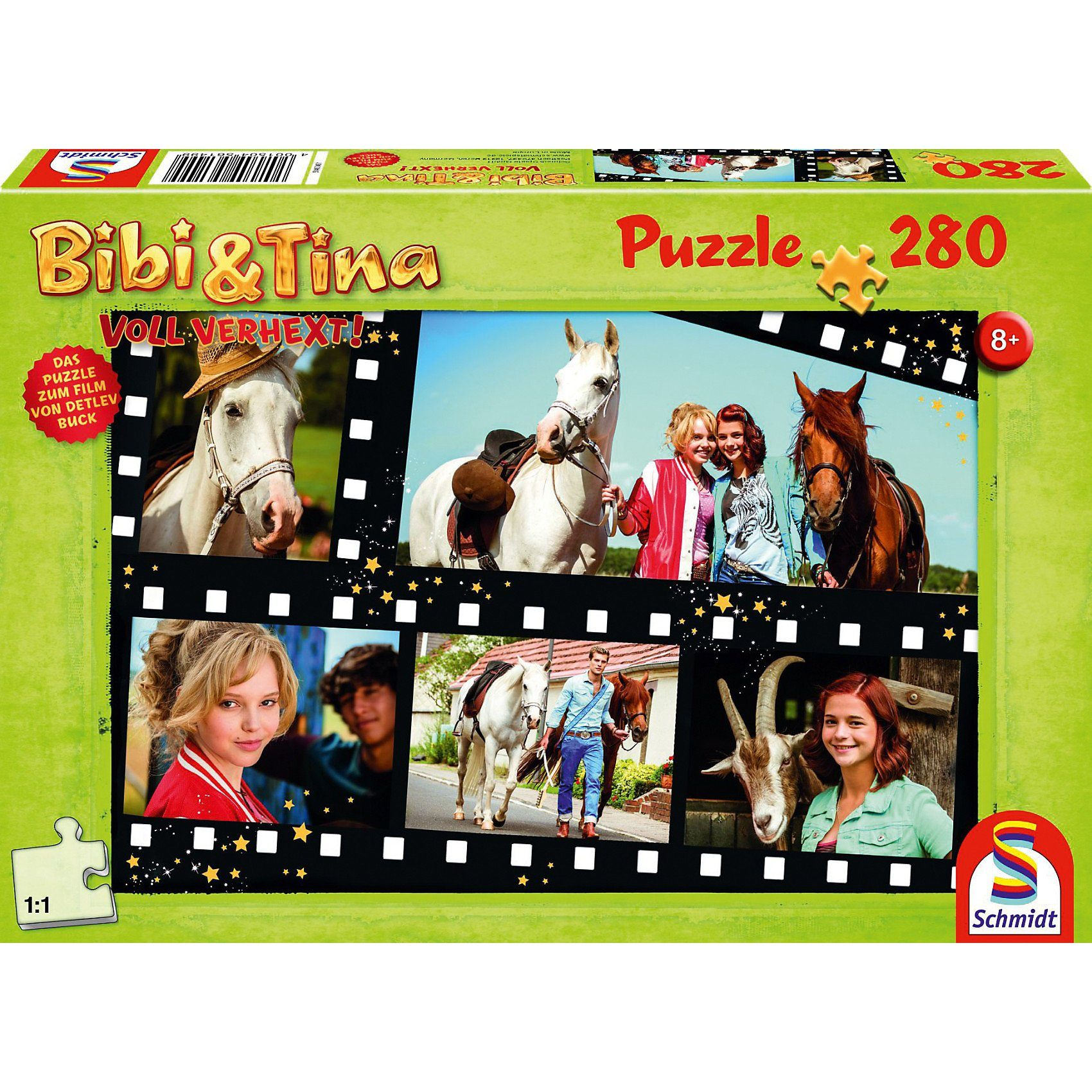 Schmidt Spiele Puzzle zum Film Bibi & Tina 2, Voll verhext, 280 Teile