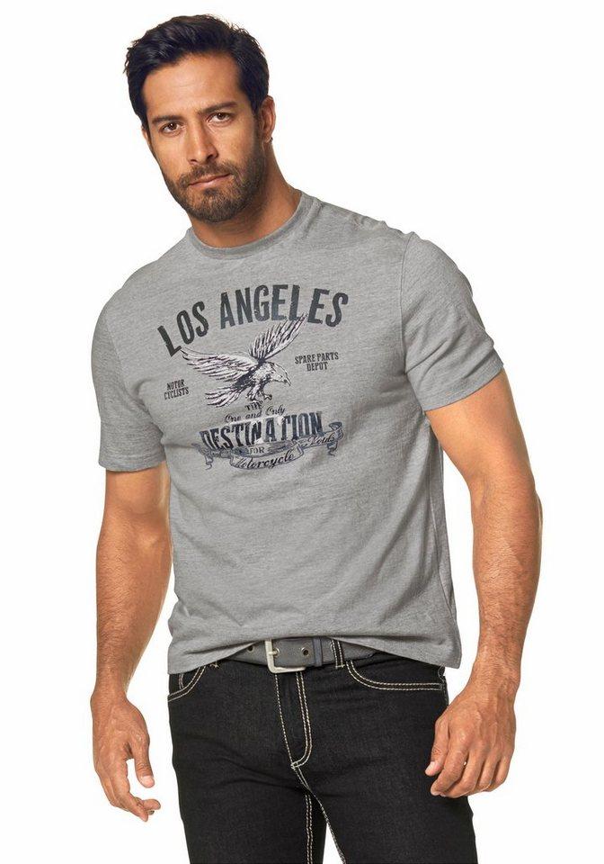 Arizona T-Shirt in grau-meliert