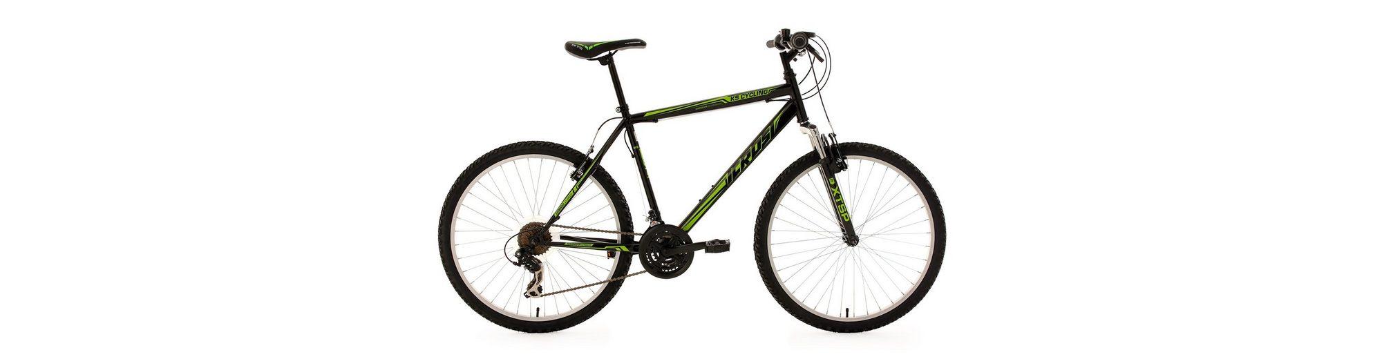 Hardtail-Mountainbike, 26 Zoll, schwarz-grün, 21-Gang-Kettenschaltung, »Icros«, KS Cycling