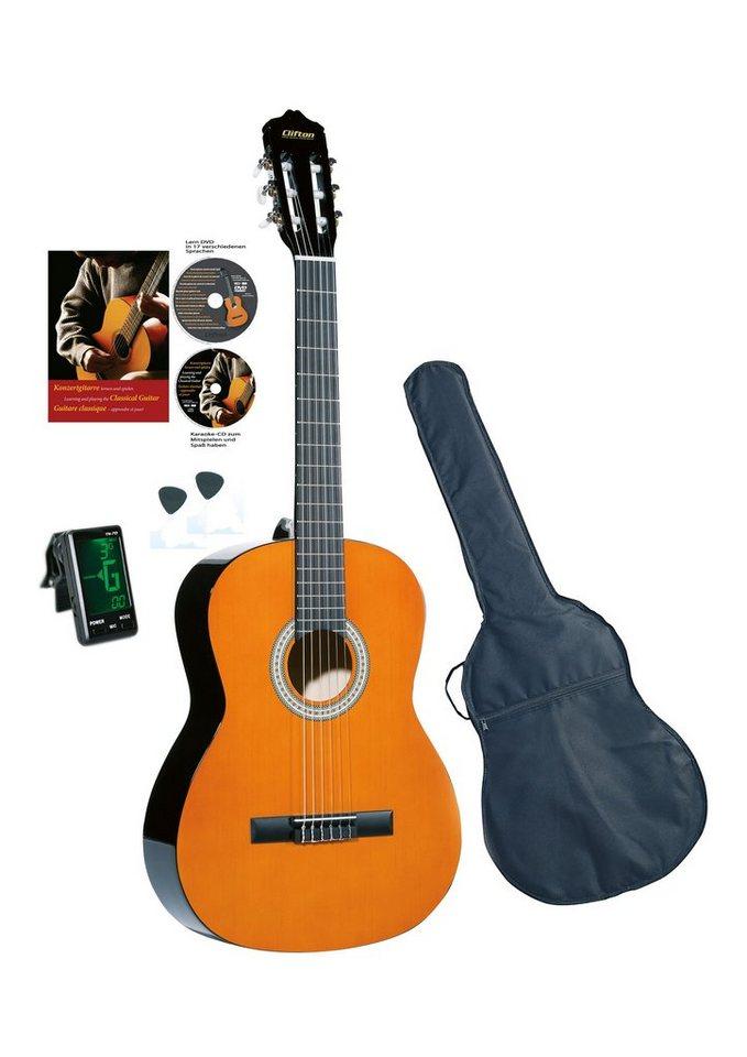 Set: Gitarre für Kinder + Zubehör, »Clifton-Konzertgitarre«