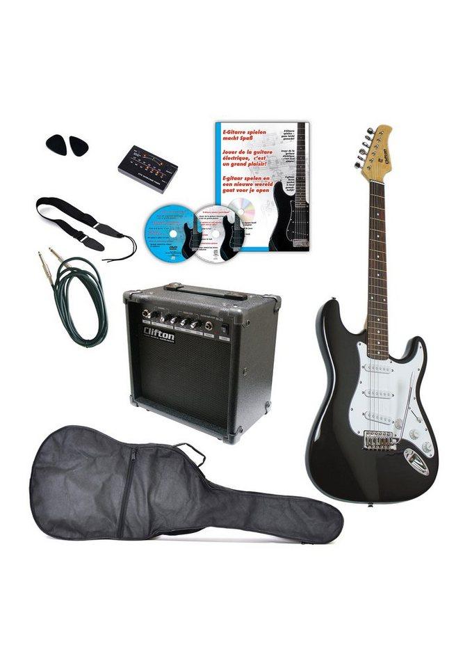 Clifton Set: E-Gitarre + Zubehör,  Clifton E-Gitarren  online kaufen