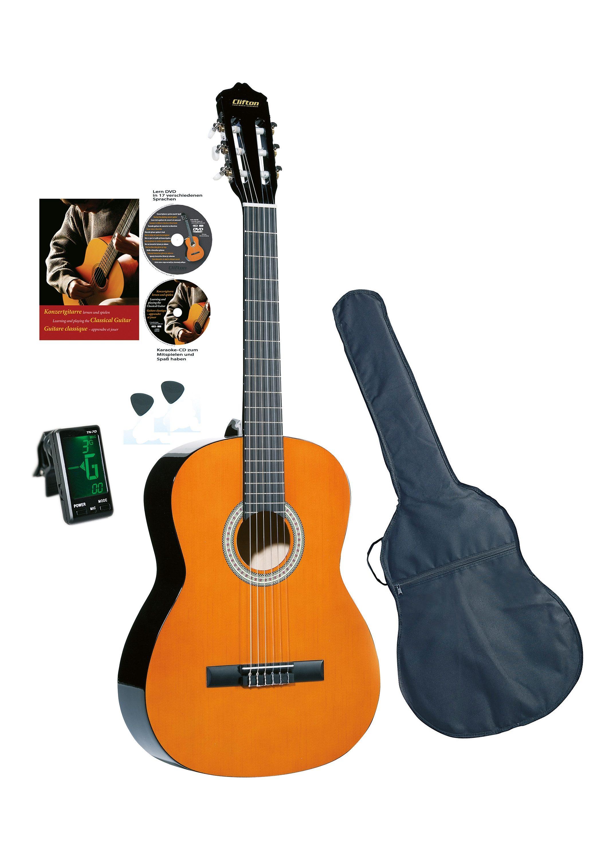 Set: Kindergitarre + Zubehör, »Clifton Konzertgitarren ¼«