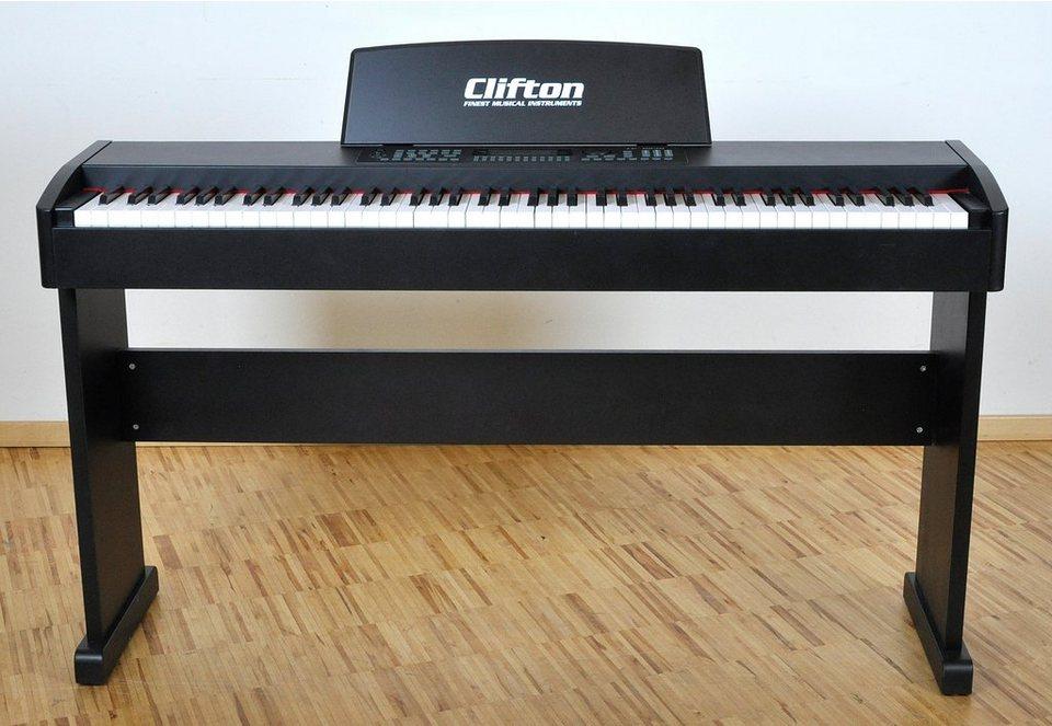 E-Piano mit 88 Tasten, »Clifton E-Piano« in schwarz