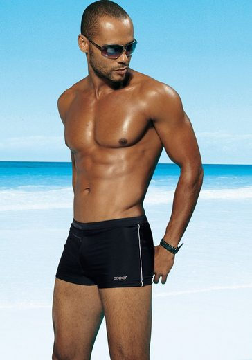 His Boxer Trunks With Zipper Pocket