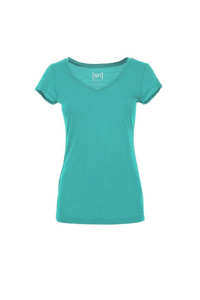 Super.Natural Merino T-Shirt »W KANP TEE 140« in POOL GREEN