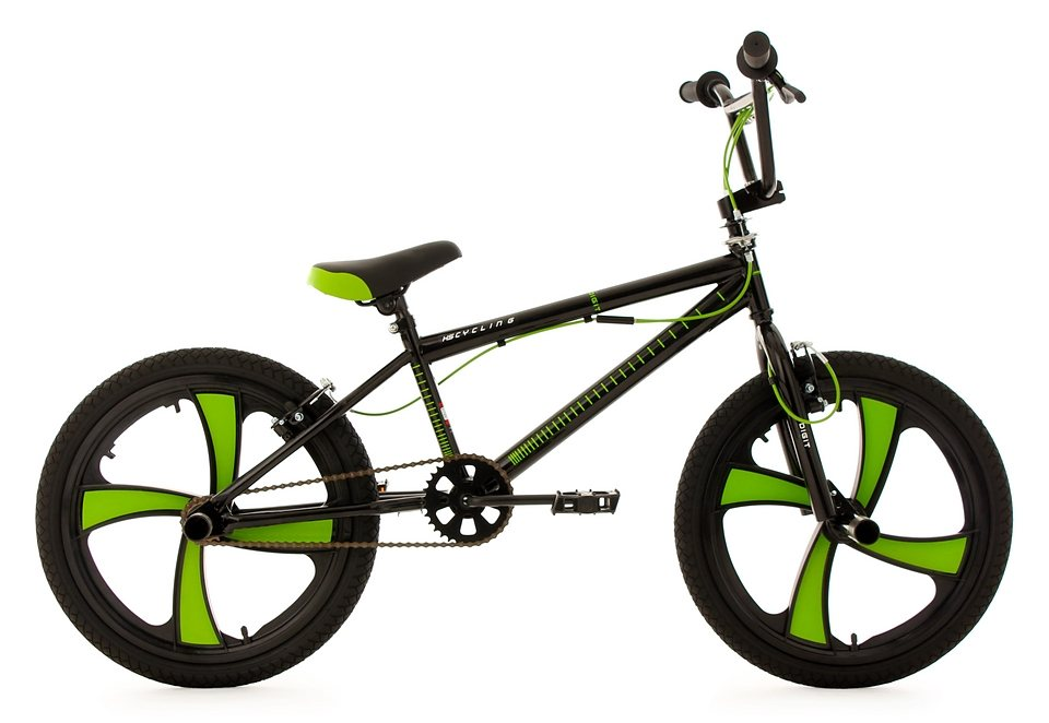 bmx fahrrad 20 zoll schwarz gr n digit ks cycling. Black Bedroom Furniture Sets. Home Design Ideas