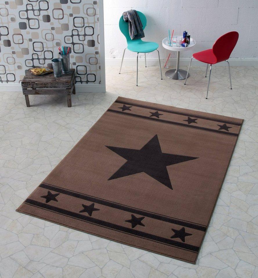 Designteppich »Stern«, Hanse Home, rechteckig, Höhe 9 mm in braun