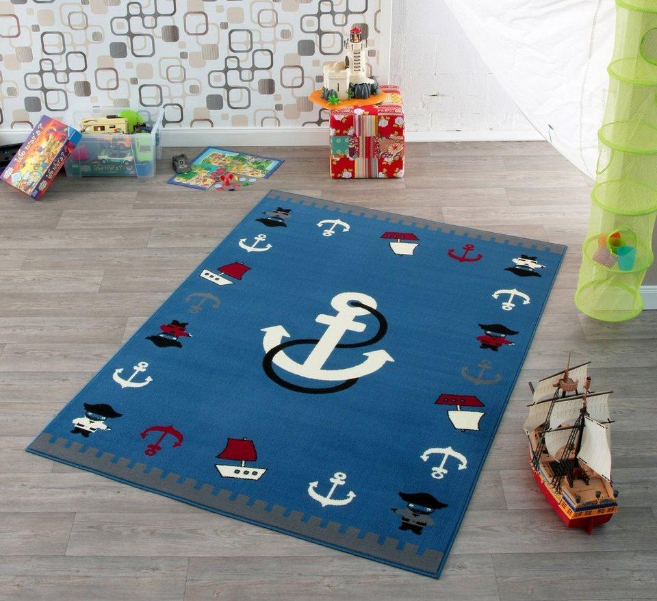 Design Teppich, Hanse Home, »Anker«, maritim, Trend, modern in Blau