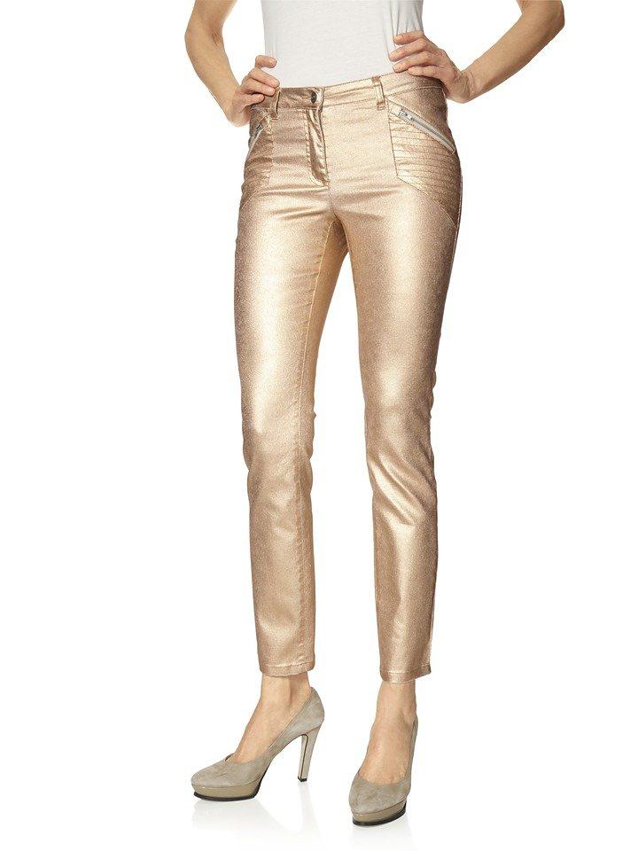 heine STYLE Push-up Jeans mit Glanzeffekt | Bekleidung > Jeans > Push-Up Jeans | Orange | Elasthan | heine