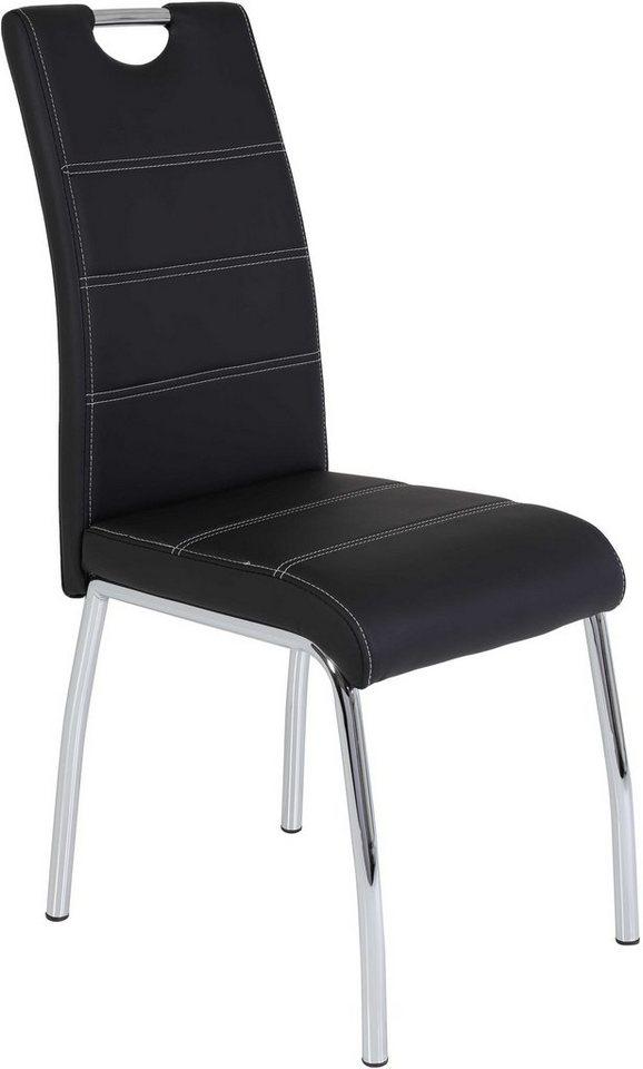 Stuhl (2 oder 4 Stück) in schwarz