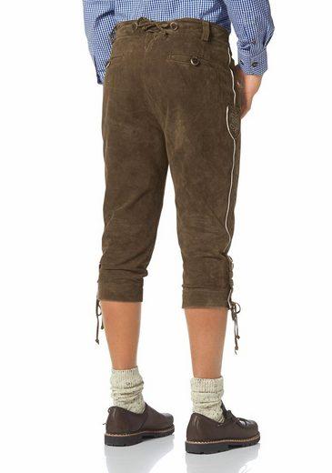 Wiesenprinz Trachtenlederhose, Verstellbändchen an Taille und Hosenbund