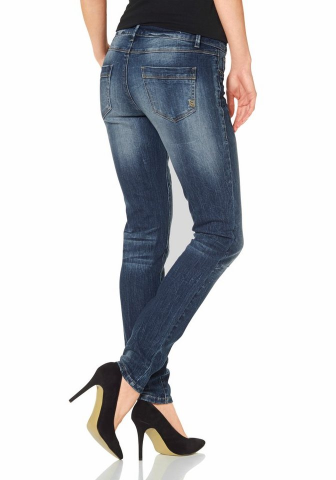 Laura Scott 5-Pocket-Jeans Skinny-Fit in blue-used