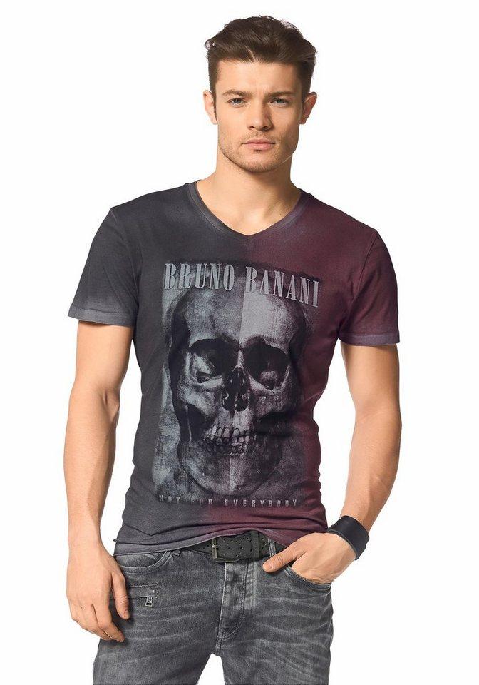Bruno Banani T-Shirt in anthrazit-rot