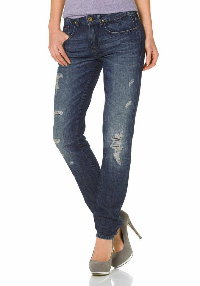 Hilfiger Denim 5-Pocket-Jeans »Louise« in blau-destroyed-Effekte