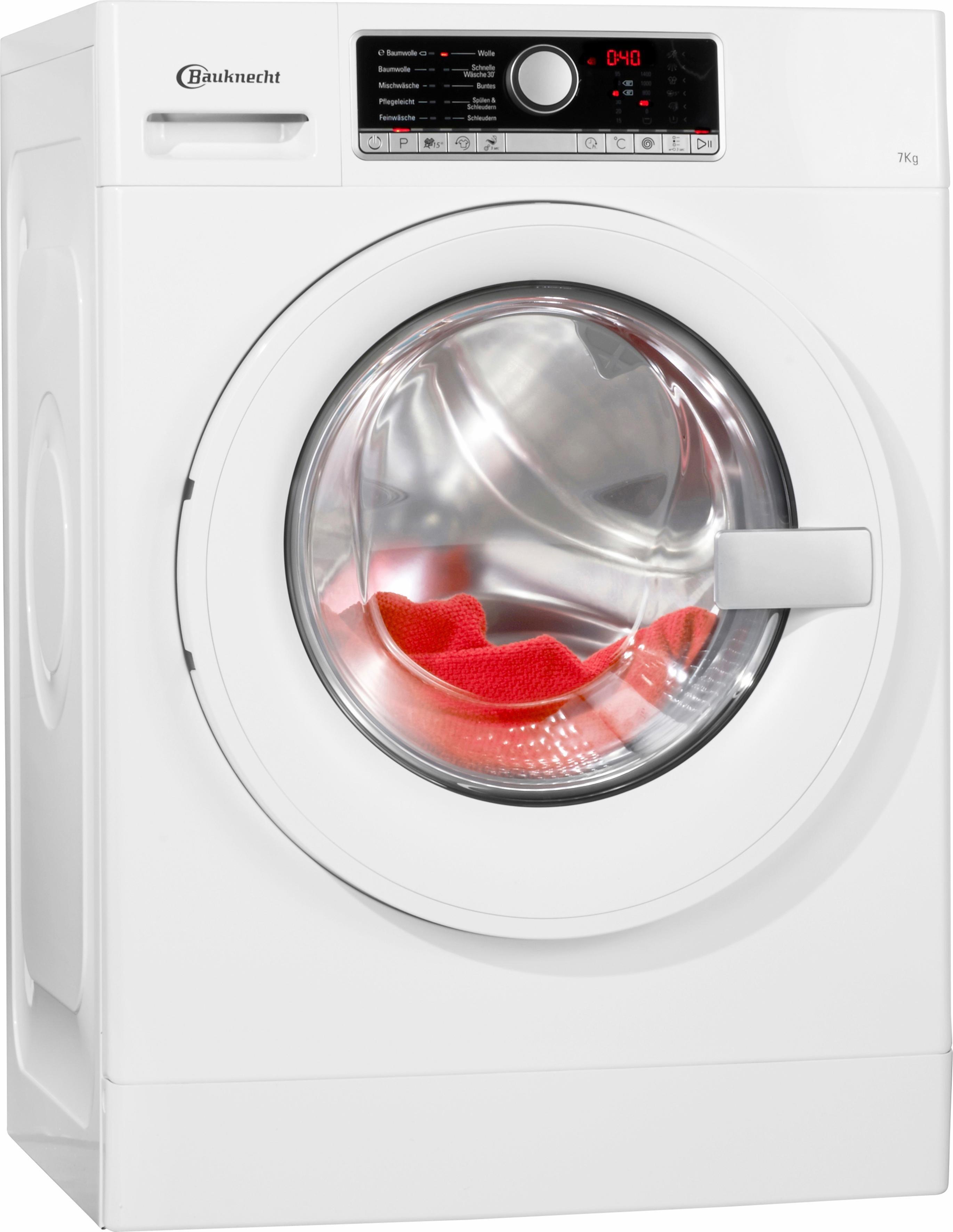 BAUKNECHT Waschmaschine WA Prime 754 PM, A+++, 7 kg, 1400 U/Min