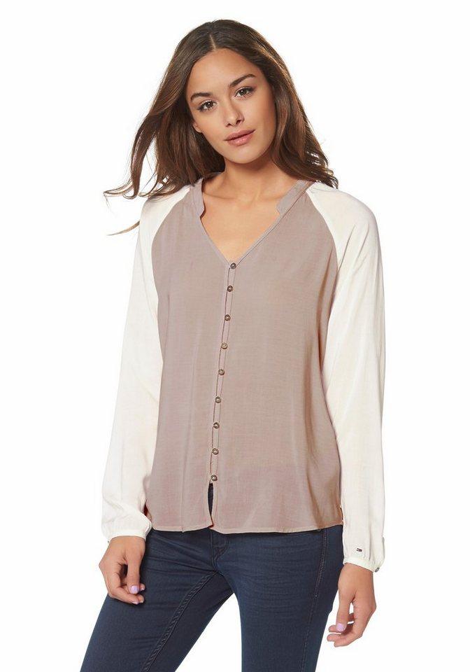 Hilfiger Denim Shirtbluse »Besse« in rosé-offwhite