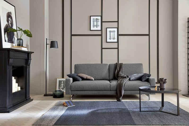 hülsta sofa 2,5-Sitzer »hs.450«, Armlehne schmal niedrig, Breite 184 cm, Fuß Chromspange, wahlweise in Stoff oder Leder