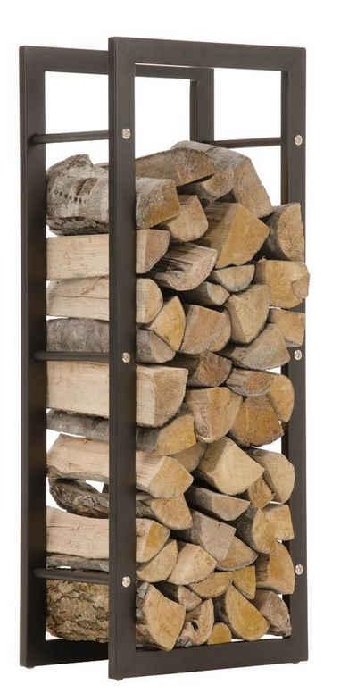 CLP Kaminholzregal »Keri schwarz-matt«, Brennholzständer für Innenbereich