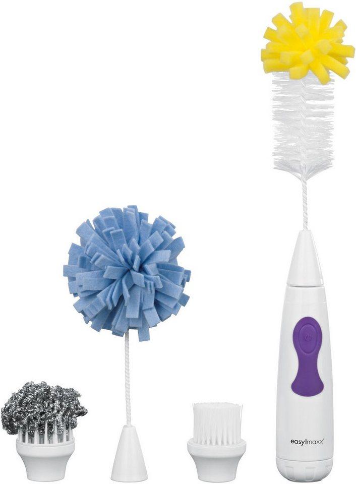 easy!maxx Elektrische Spül- und Reinigungsbürste 4in 1 in weiß