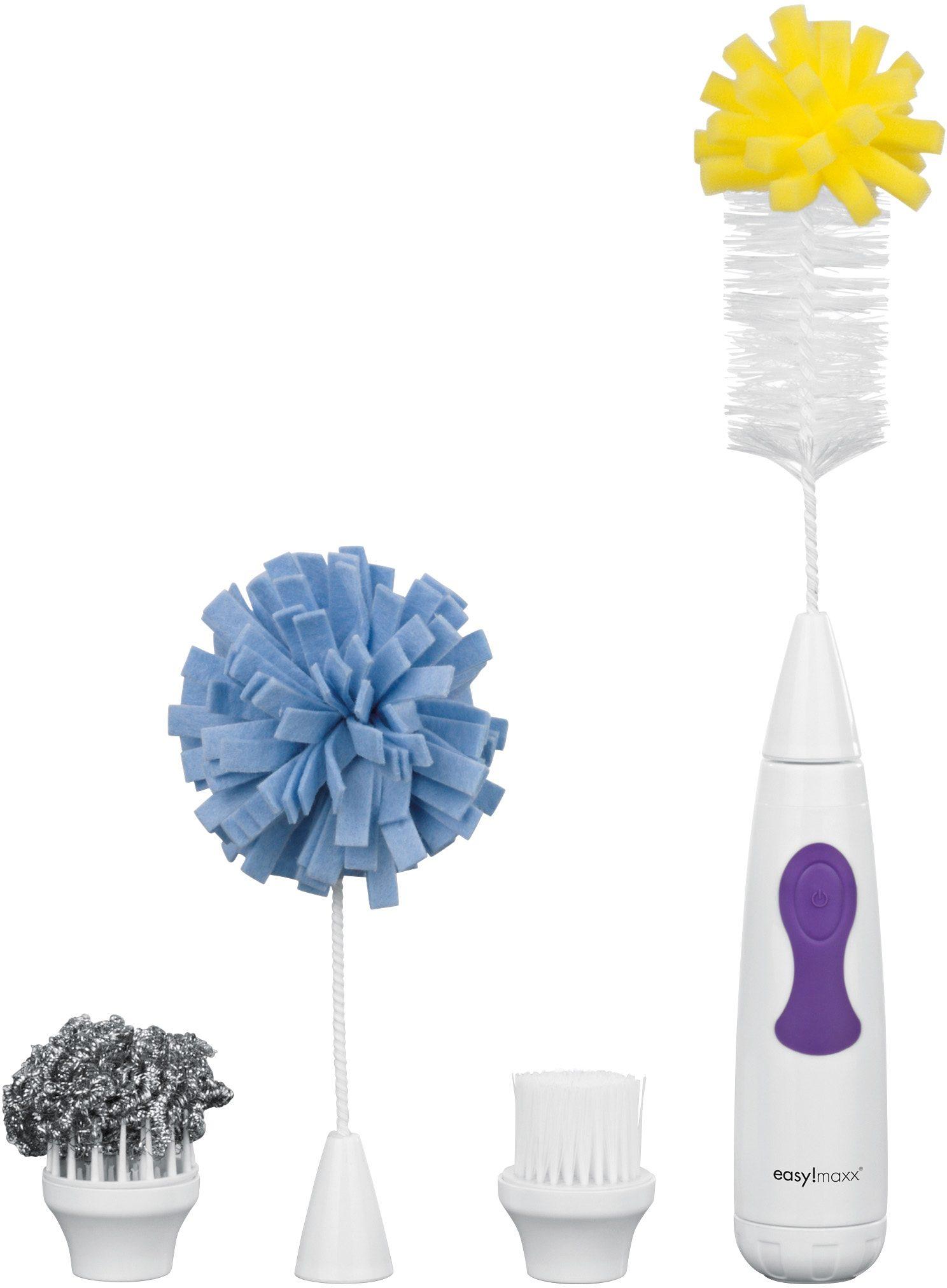 easy!maxx Elektrische Spül- und Reinigungsbürste 4in 1