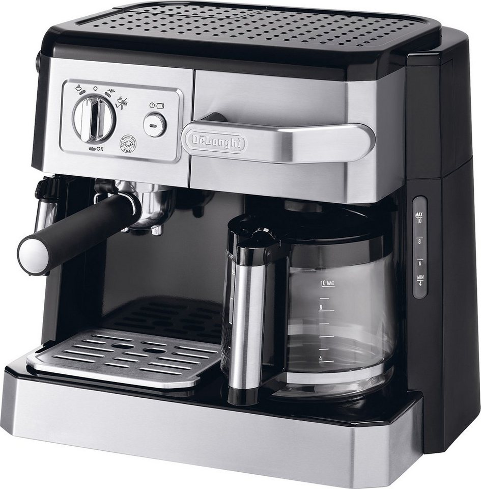 delonghi siebtr ger filterkaffeemaschine bco 420 1 1x4 kombi espresso kaffee maschine online. Black Bedroom Furniture Sets. Home Design Ideas