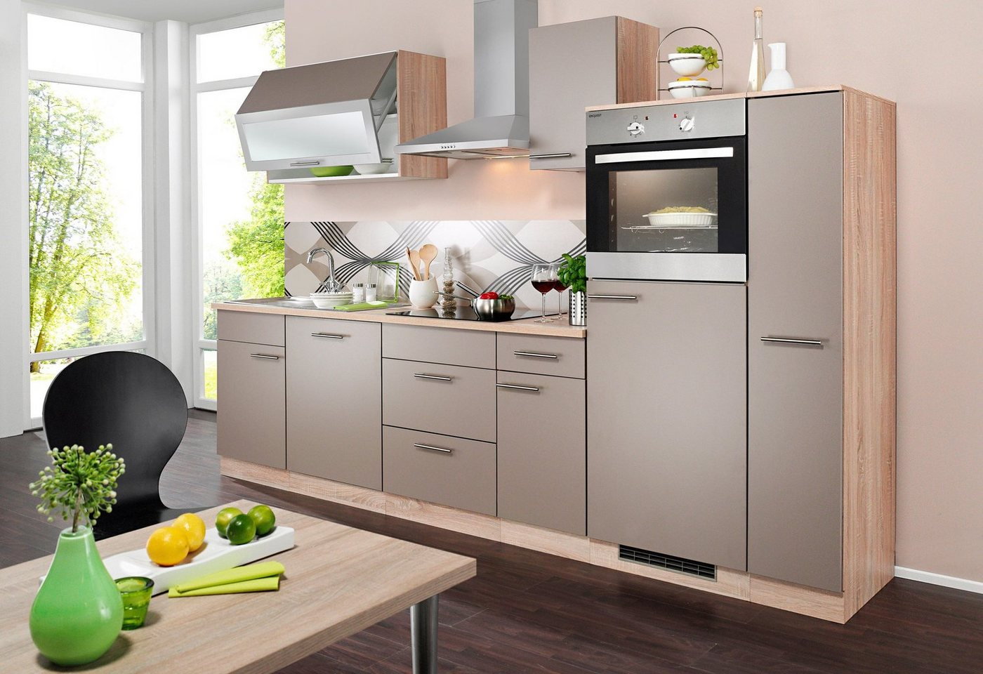 k chenzeile mit elektroger ten preisvergleiche erfahrungsberichte und kauf bei nextag. Black Bedroom Furniture Sets. Home Design Ideas