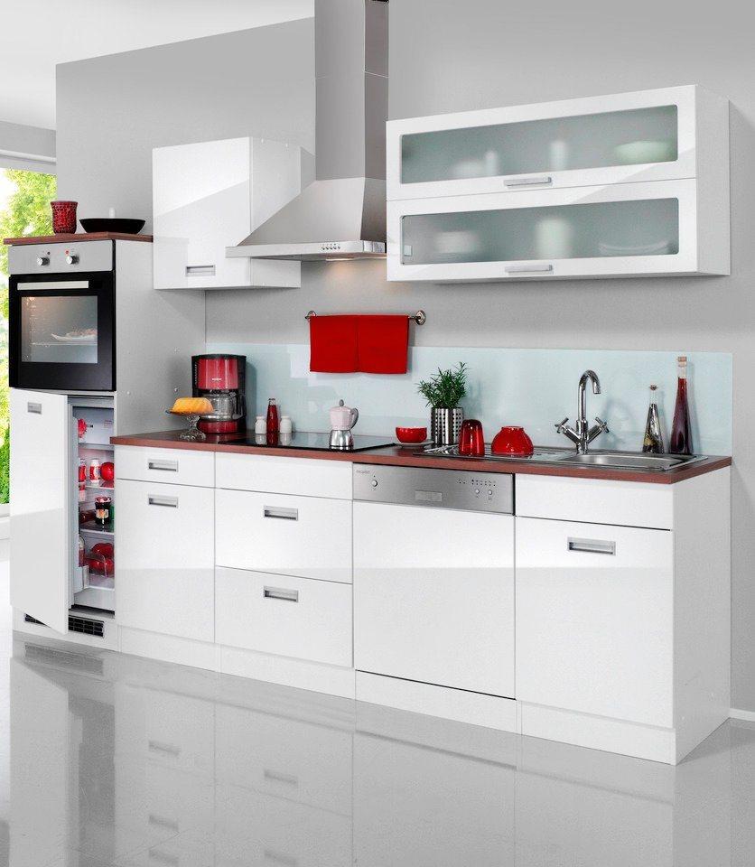 HELD MÖBEL Küchenzeile mit E Geräten Fulda mit autarken