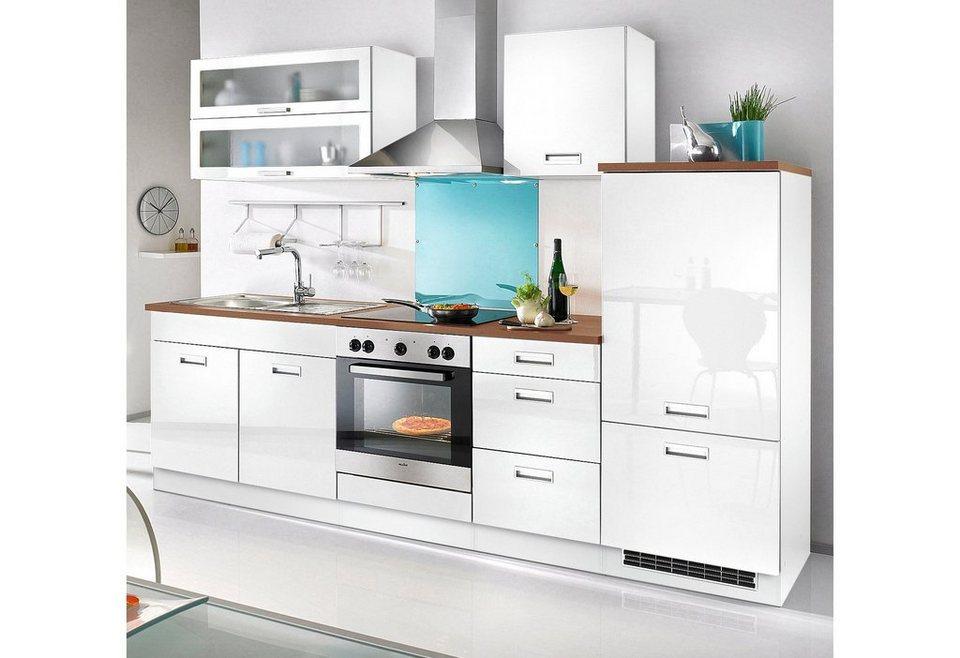 Held Möbel Küchenzeile »Fulda«, inkl. Elektrogeräte, Breite 270 cm in weiß