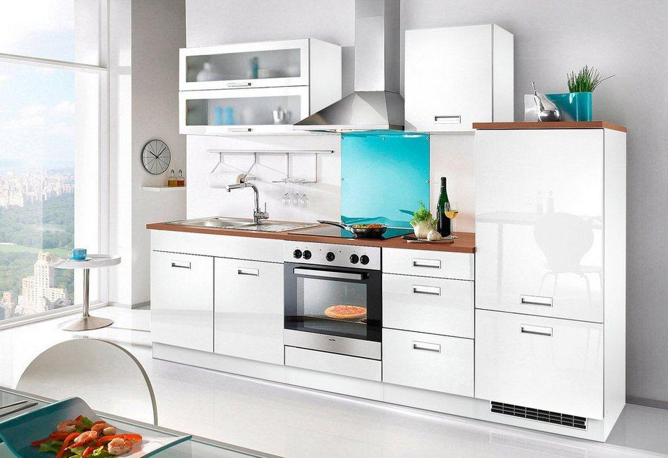 Küchenzeile »Fulda«, ohne E-Geräte, Breite 270 cm in weiß