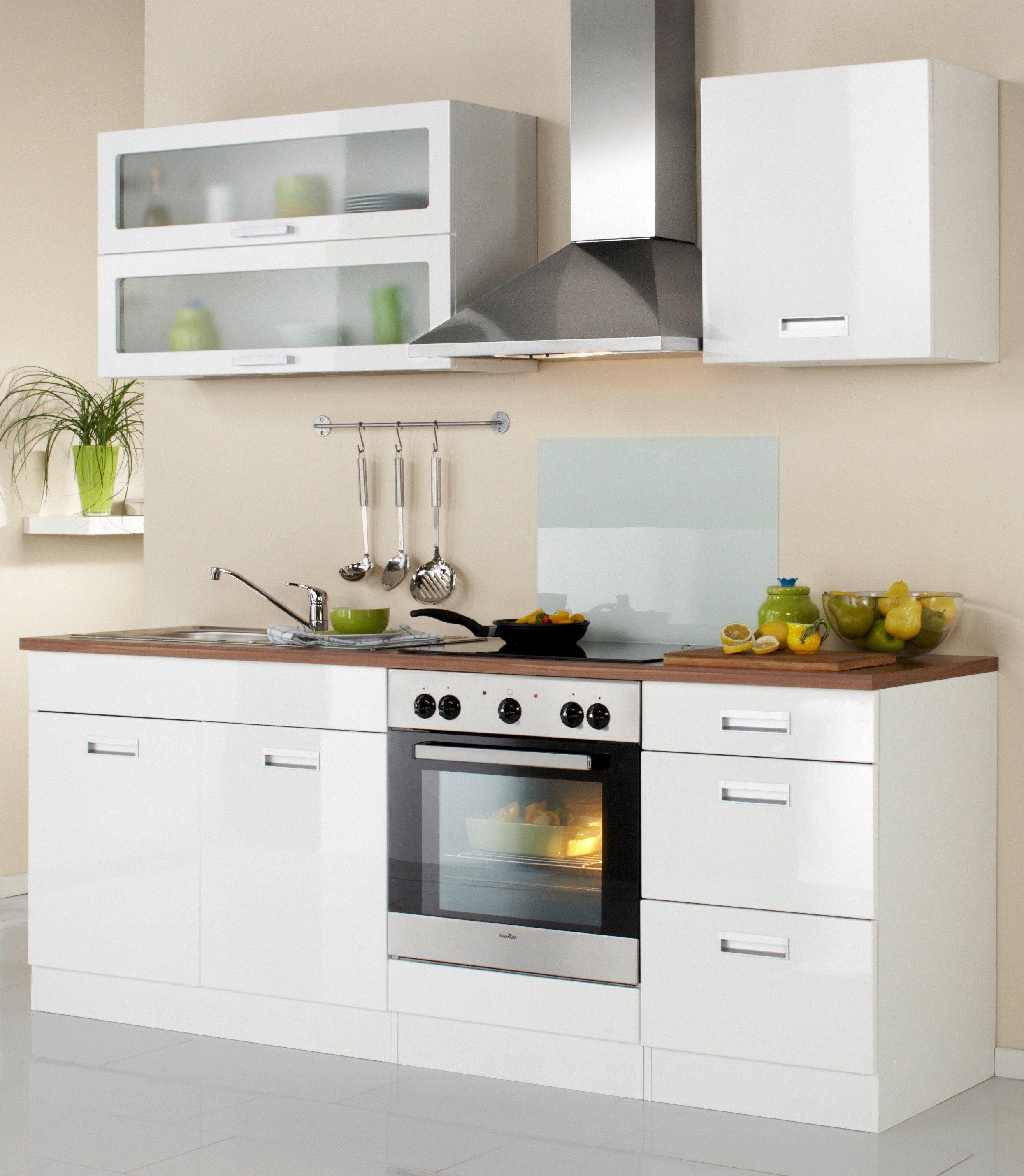 Held möbel küchenzeile »fulda«, inkl. elektrogeräte, breite 210 cm ...