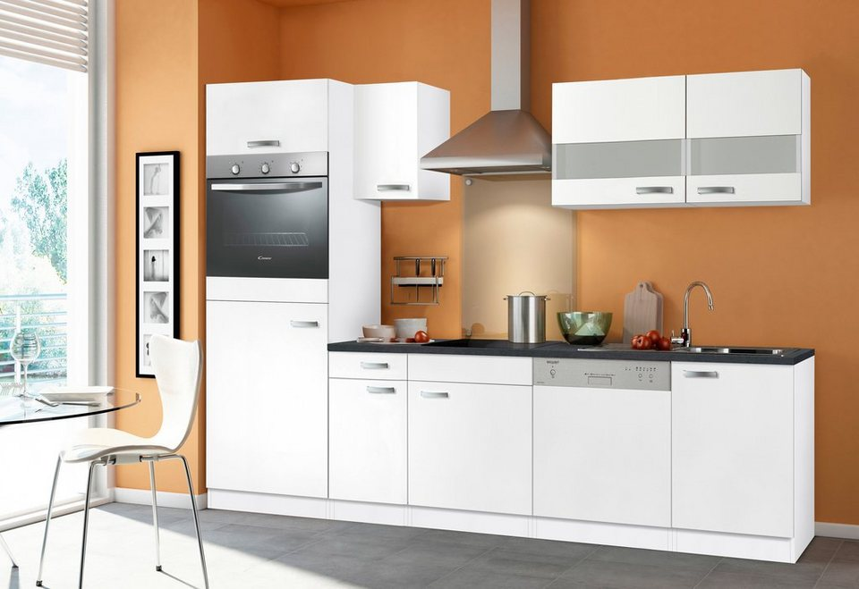 Küchenzeile »Lagos«, inkl. E-Geräte, Breite 270 cm - Set 2 in weiß