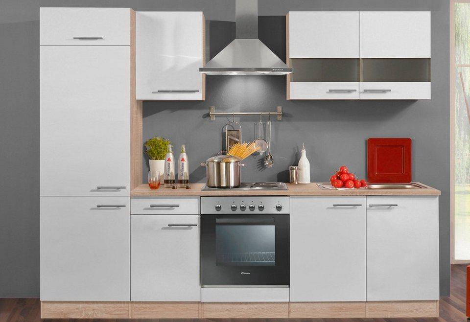 Küchenzeile ohne E-Geräte »Dakar«, Breite 270 cm in eichefarben/weiß