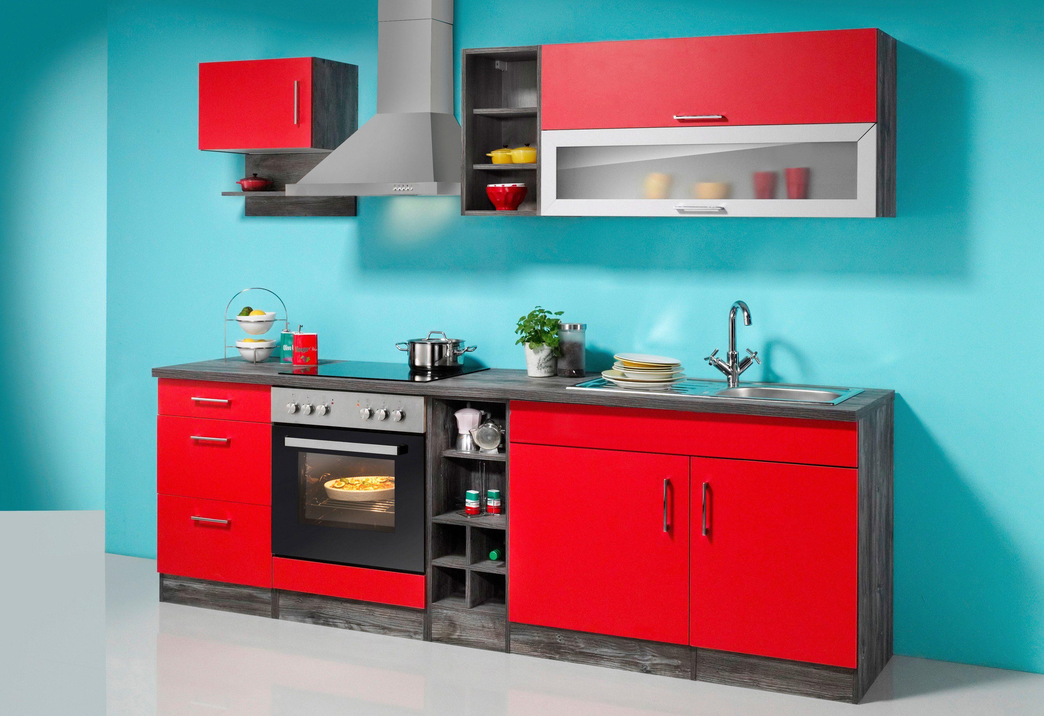 held m bel k chenzeile sevilla mit elektroger ten breite 240 cm online kaufen otto. Black Bedroom Furniture Sets. Home Design Ideas